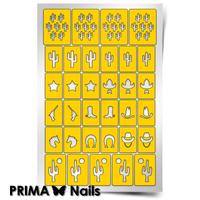 Трафарет для дизайна ногтей PrimaNails. Дикий запад