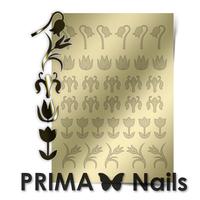 Металлизированные наклейки Prima Nails. Арт. FL-02, Золото