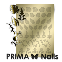 Металлизированные наклейки Prima Nails. Арт. FL-03, Золото