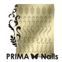 Металлизированные наклейки Prima Nails. Арт. FL-04, Золото