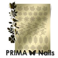 Металлизированные наклейки Prima Nails. Арт. FL-05, Золото