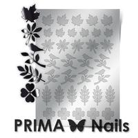 Металлизированные наклейки Prima Nails. Арт. FL-05, Серебро