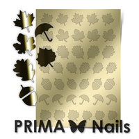 Металлизированные наклейки Prima Nails. Арт. FL-06, Золото