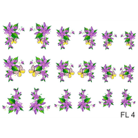 Слайдер-дизайн Nail Dream - Цветы FL4