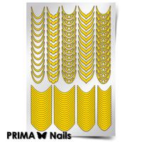 Трафарет для дизайна ногтей PrimaNails. Френч и лунки. Грация