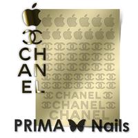 Металлизированные наклейки Prima Nails. Арт. FSH-01, Золото