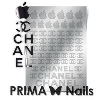 Металлизированные наклейки Prima Nails. Арт. FSH-01, Серебро