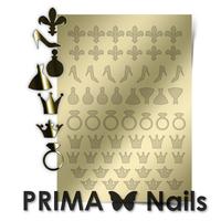 Металлизированные наклейки Prima Nails. Арт. FSH-03, Золото