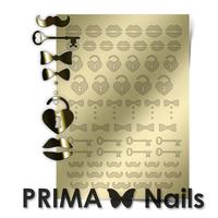 Металлизированные наклейки Prima Nails. Арт. FSH-04, Золото