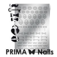 Металлизированные наклейки Prima Nails. Арт. FSH-04, Серебро