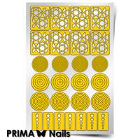 Трафарет для дизайна ногтей PrimaNails. Геометрия. Круги