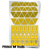 Трафарет для дизайна ногтей PrimaNails. Геометрия. Треугольники