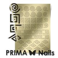 Металлизированные наклейки Prima Nails. Арт. GM-01, Золото