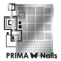 Металлизированные наклейки Prima Nails. Арт. GM-03, Серебро