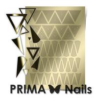 Металлизированные наклейки Prima Nails. Арт. GM-04, Золото