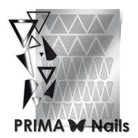 Металлизированные наклейки Prima Nails. Арт. GM-04, Серебро