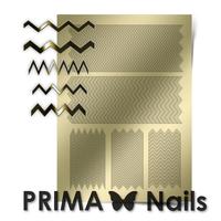 Металлизированные наклейки Prima Nails. Арт. GM-06, Золото