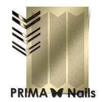 Металлизированные наклейки Prima Nails. Арт. GM-07, Золото