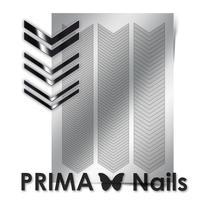 Металлизированные наклейки Prima Nails. Арт. GM-07, Серебро