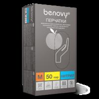 Перчатки BENOVY Nitrile PC (блок)  ГОЛУБЫЕ - L