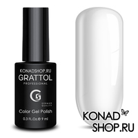 Гель-лак Grattol Color Gel Polish  - тон №01 White