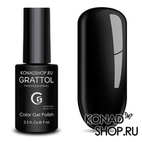 Гель-лак Grattol Color Gel Polish  - тон №02 Black