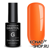Гель-лак Grattol Color Gel Polish  - тон №28 Tangerin