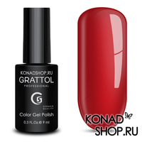 Гель-лак Grattol Color Gel Polish  - тон №83 Pure Red