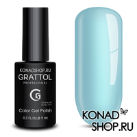 Гель-лак Grattol Color Gel Polish  - тон №89 Ice Blue