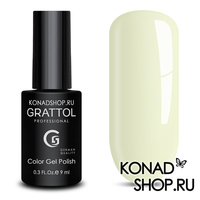 Гель-лак Grattol Color Gel Polish - тон  №114 Pale Yellow