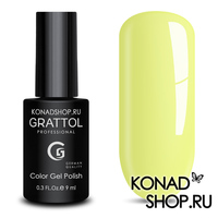 Гель-лак Grattol Color Gel Polish - тон  №125 Light Yellow