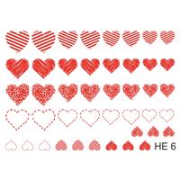 Слайдер-дизайн Nail Dream - Сердца HE6