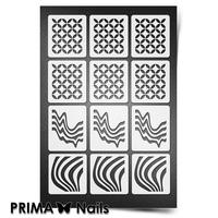 Трафарет для ногтей PrimaNails.NEW SIZE Иллюзия