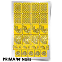 Трафарет для дизайна ногтей PrimaNails. Иллюзия
