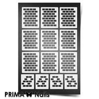 Трафарет для ногтей PrimaNails.NEW SIZE Кирпичики 1
