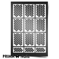 Трафарет для ногтей PrimaNails.NEW SIZE Кирпичики 2