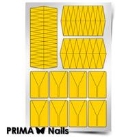 Трафарет для дизайна ногтей PrimaNails. Клинки