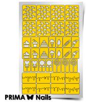 Трафарет для дизайна ногтей PrimaNails. Кондитерская