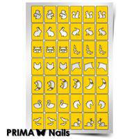 Трафарет для дизайна ногтей PrimaNails. Крылья, ноги и хвосты-1