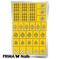 Трафарет для дизайна ногтей PrimaNails. Листья