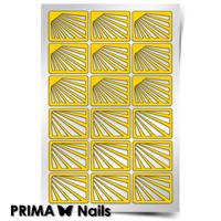 Трафарет для дизайна ногтей PrimaNails. Лучи солнца