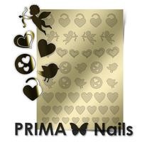 Металлизированные наклейки Prima Nails. Арт. LV-02, Золото