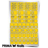 Трафарет для дизайна ногтей PrimaNails. Модница