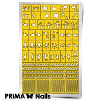 Трафарет для дизайна ногтей PrimaNails. Морское дно