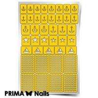 Трафарет для дизайна ногтей PrimaNails. Морской микс-1 New
