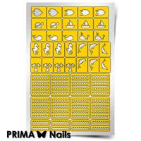 Трафарет для дизайна ногтей PrimaNails. Морской микс-2