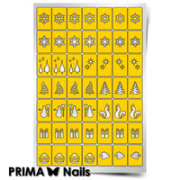 Трафарет для дизайна ногтей PrimaNails. Новогоднее чудо