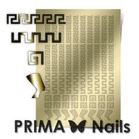Металлизированные наклейки Prima Nails. Арт.OR-001, Золото
