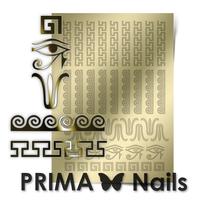 Металлизированные наклейки Prima Nails. Арт.OR-003, Золото