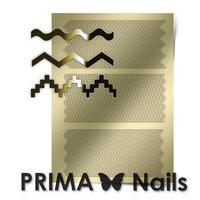 Металлизированные наклейки Prima Nails. Арт.OR-005, Золото